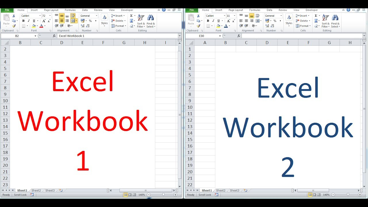 open excel workbook