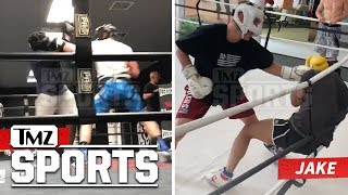 Logan and Jake Paul Sparring In The Ring | TMZ Sports