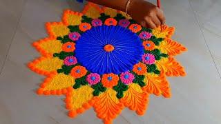 Happy New Year 2020 Rangoli Designs जो सुंदर रंगोली आप भी बना लेंगे New Year Rangoli