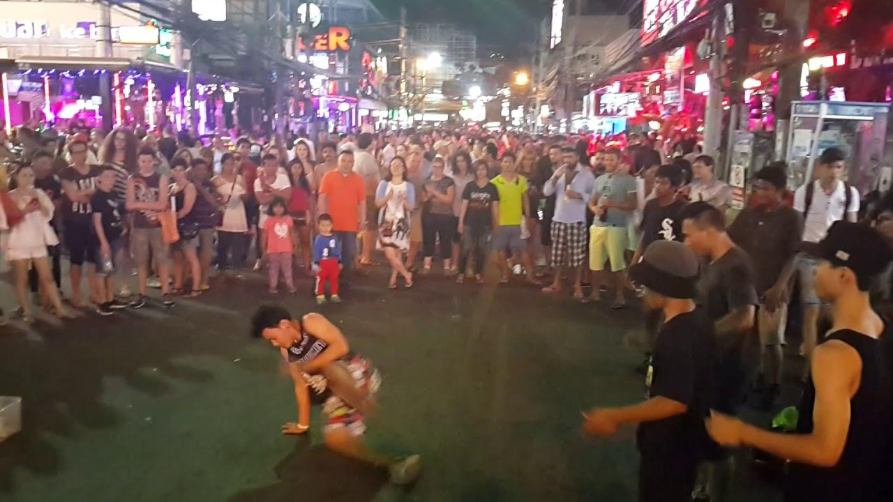 STREET DANCE Bangla street Phuket Thailand - YouTube