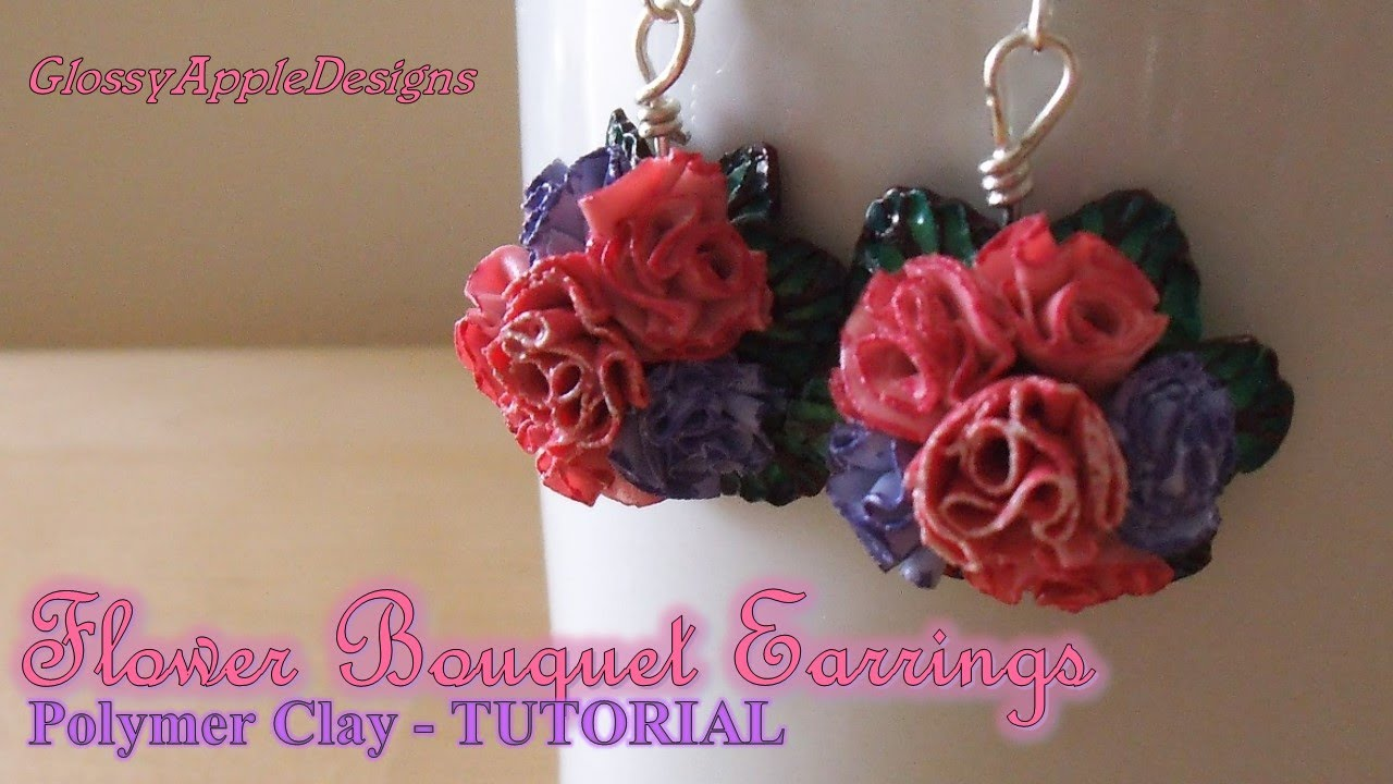 Polymer clay flower bouquet earrings charms tutorial maive polymer clay flower bouquet earrings charms tutorial maive ferrando youtube izmirmasajfo Images