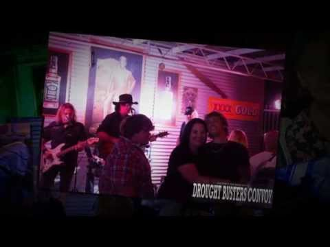 Kerry Kennedy And Double Barrel At the Dalby Hotel Motel For the Drought Busters Convoy