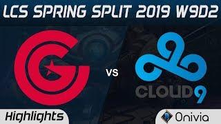 CG vs C9 Highlights LCS Spring 2019 W9D2 Clutch Gaming vs Cloud9 LCS Highlights by Onivia