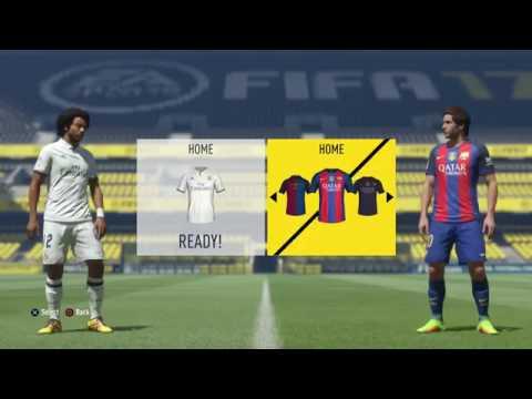 FIFA 17 Real Madrid vs Barcelona 0-2 Gameplay Full Match PS4 HD