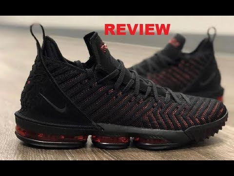 release date ad2a5 2d1e6 NIKE LEBRON JAMES 16 BRED  FRESH BREAD  SNEAKER DETAILED REVIEW