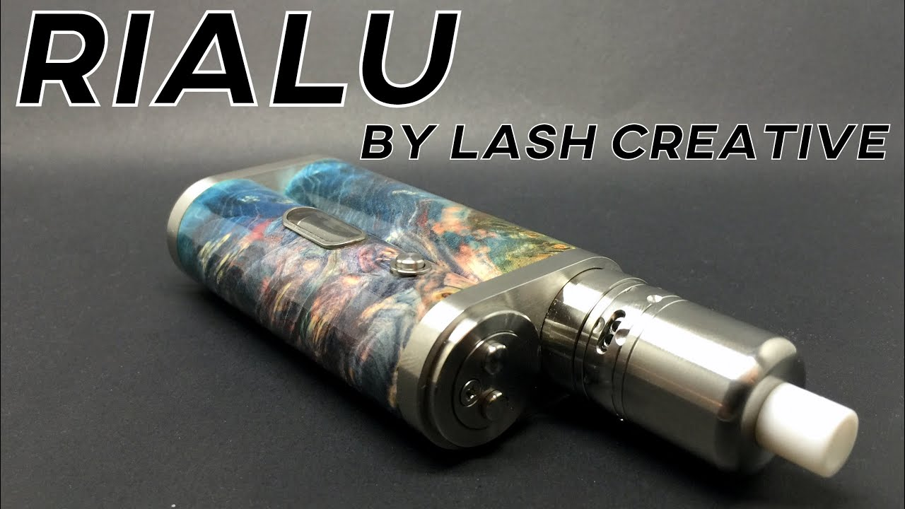 THE RIALU BY LASH CREATIVE REVIEW - stabilized wood high end box mod