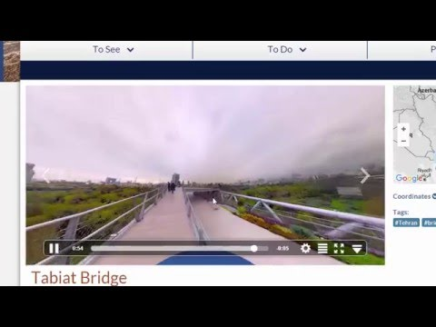Demo : Interactive Video  on  Tabiat Bridge