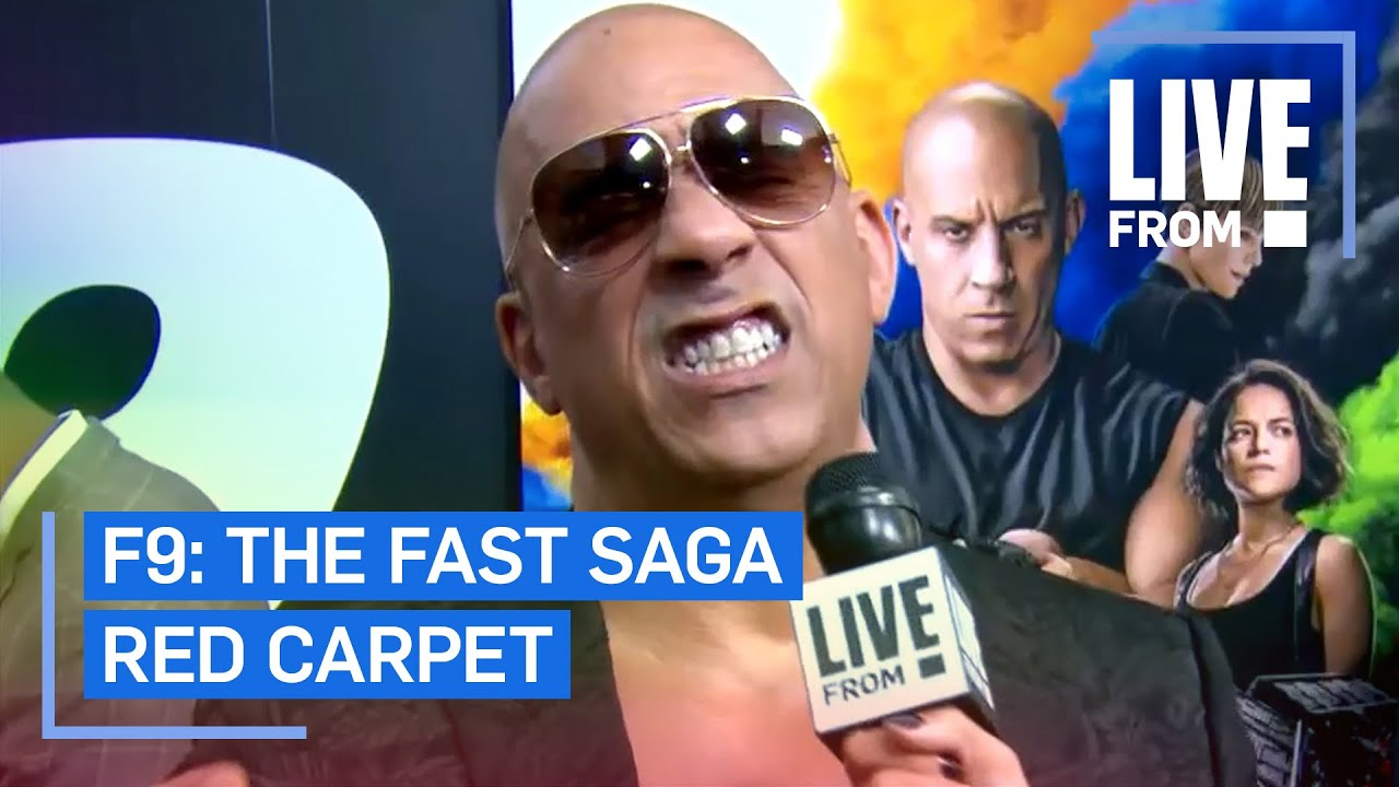 """Vin Diesel Does His Best Cardi B Impression at """"F9"""" Premiere   E! Red Carpet & Award Shows"""