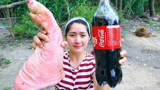 Yummy Pork Leg Cooking Cocacola - Pork Leg Roasted Cocacola - Cooking With Sros