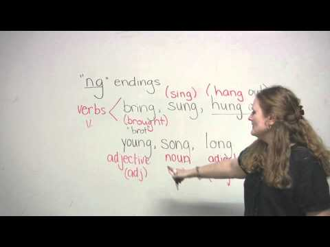 How to pronounce words that end with NG (English Pronunciation)