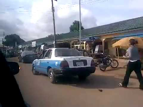DRIVING IN ASABA,Western Nigeria