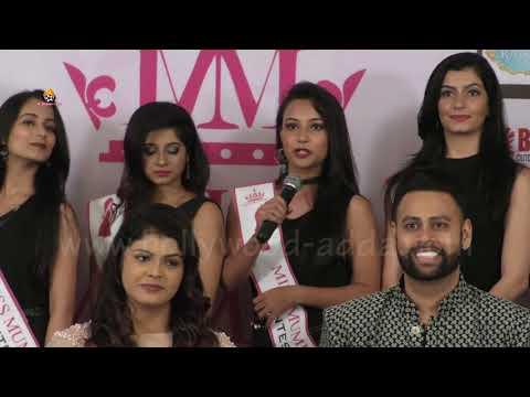Miss Mumbai 2017 Press Conference - Vj Andy & CEO Nishita With Beautiful Models