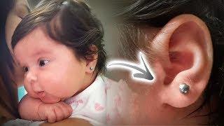 beb laura colocou um brinco de ouro branco na orelha daily vlog em familia e saga da beb reborn