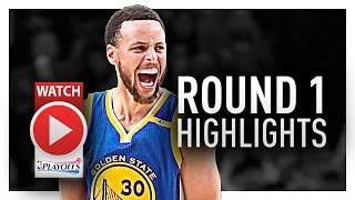 Stephen Curry Round 1 Offense Highlights VS Trail Blazers 2017 Playoffs - COOKING!