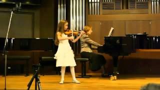 Стефания Винник, 7 лет. Данкля, вариации на тему Пачини.