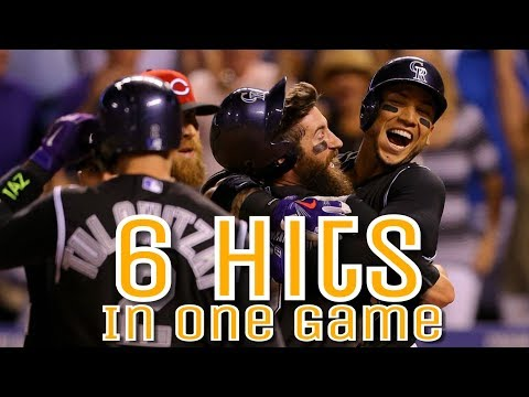 MLB: Six Hits in a Game by One Player