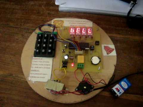 AUTOMATIC COLLEGE BELL USING AT89C52 - YouTube