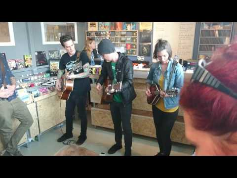 Dave Hause - The Flinch live instore @ Velvet music Eindhoven