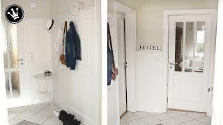 DIY- MAKEOVER   Umgestaltung Flur und Garderobe   Beadboard   Flur in einem Altbau renovieren