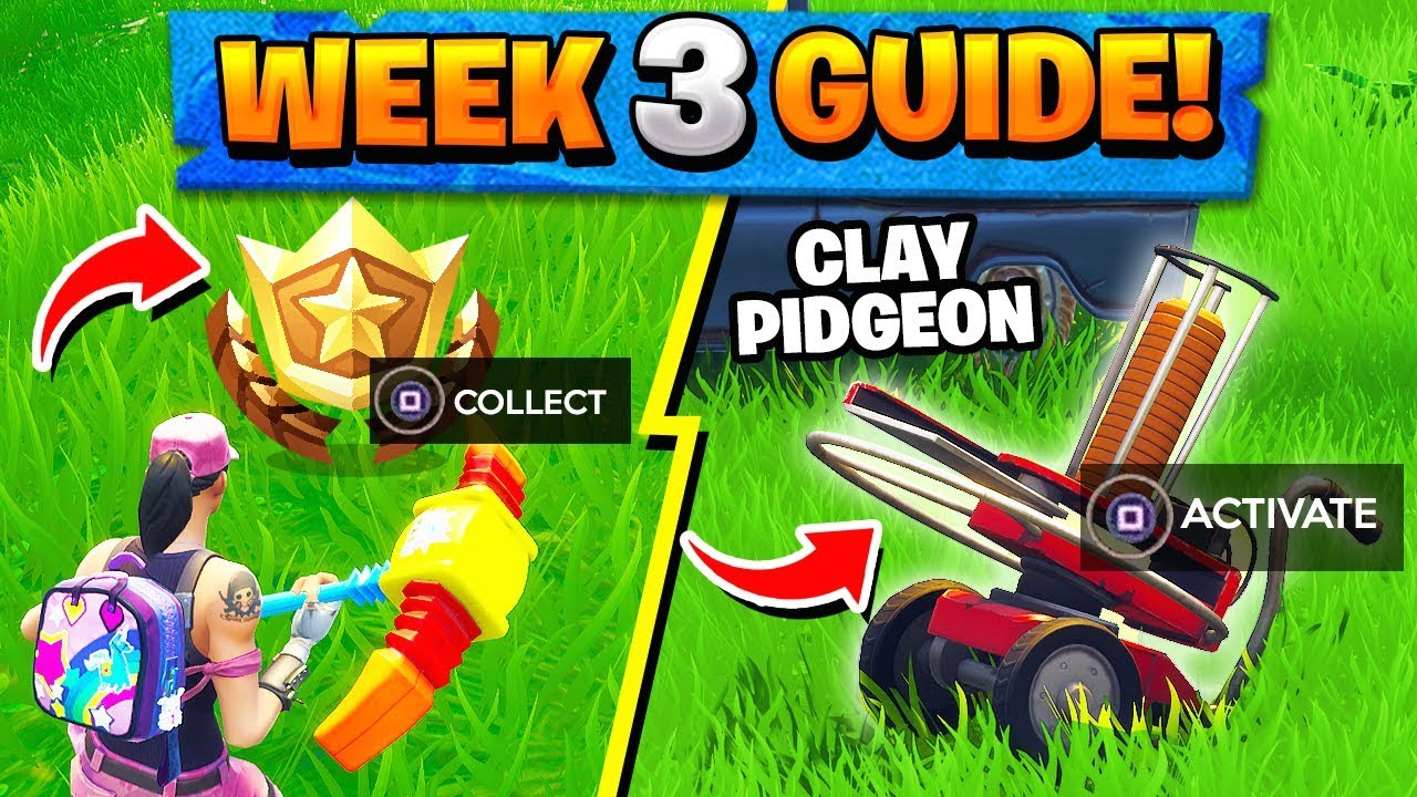 Fortnite Week 3 Clay Pigeon Location Funny Cats And Dogs Fortnite Week 3 Challenges Guide Treasure Map Clay Pigeons Locations Battle Royale Season 5 Tbnrfrags