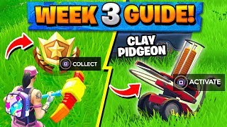 Fortnite WEEK 3 CHALLENGES GUIDE! - TREASURE map, CLAY pigeons locations (Battle Royale Season 5)