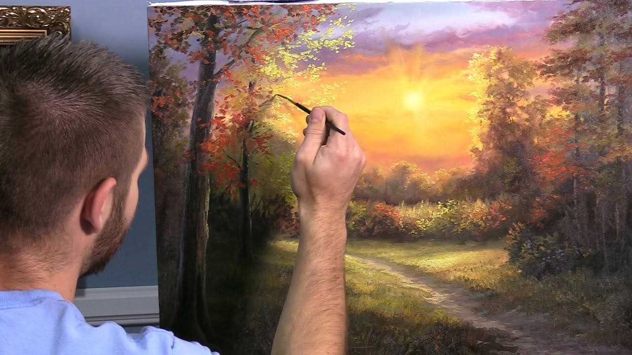 Forest At Sunset Paint With Kevin