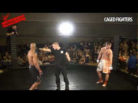 Caged Fighters 2    Nathaniel Brown VS Ben 'Unique' Binns  SHAREFIGHT.COM