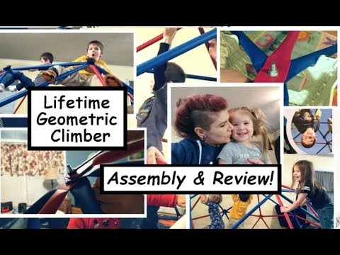 Lifetime Geometric Dome Climber!! 5' X 10' Geo Dome INDOOR Assembly & Review!!