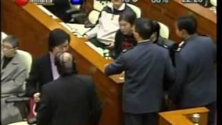 [極醜惡]黃毓民vs詹培忠立會爆粗罵戰