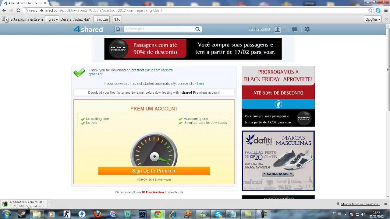 o brasfoot 2012 com registro gratis