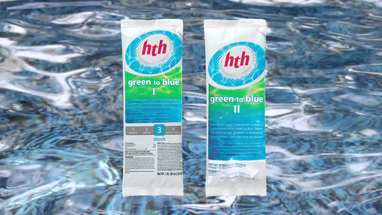 How To Shock Your Pool With Hth Green To Blue Shock Treatment Youtube