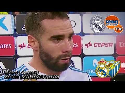 Declaraciones de DANI CARVAJAL post Real Madrid 3-2 Málaga (25/11/2017)