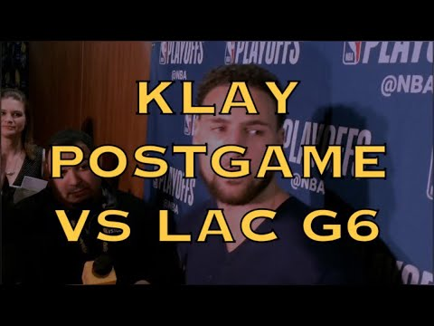 Entire KLAY THOMPSON postgame press conference after Warriors (4-2) eliminated LA Clippers in Game 6