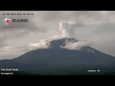 12/18/17 ~ Eruptions Between Cloud Banks ~ Mount Agung ~ Time Lapse