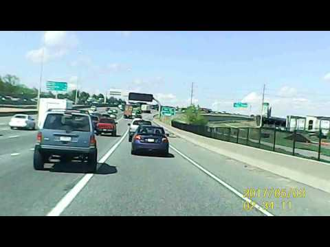 Denver Dashcam - Dickhead Jeep Driver I-25 Road Rage Caught On Tape