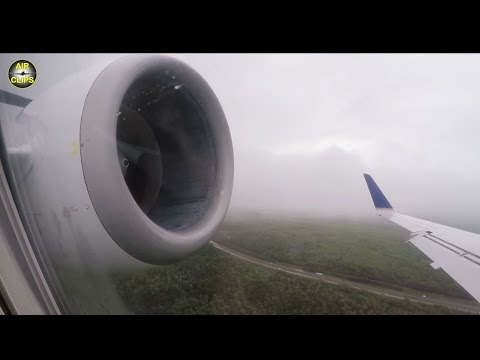 BAD WEATHER LANDING! United Express Embraer 145 shaking into Halifax, Canada [AirClips]