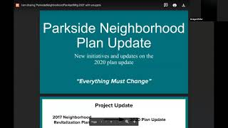 Parkside April 2021 Community Meeting