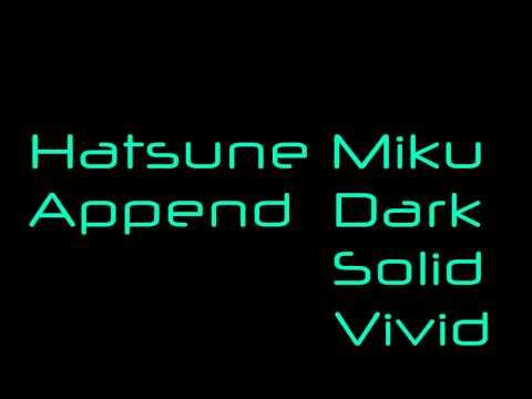 Circus Monster (jap.) Hatsune Miku append Dark, Light, Solid, Sweet, Vivid