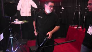 Frankenstand Speaker Stand Booth with Mike Walter of the Disc Jockey News