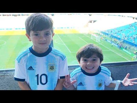 Thiago y Mateo MESSI  Sus Momentos Ms DIVERTIDOS