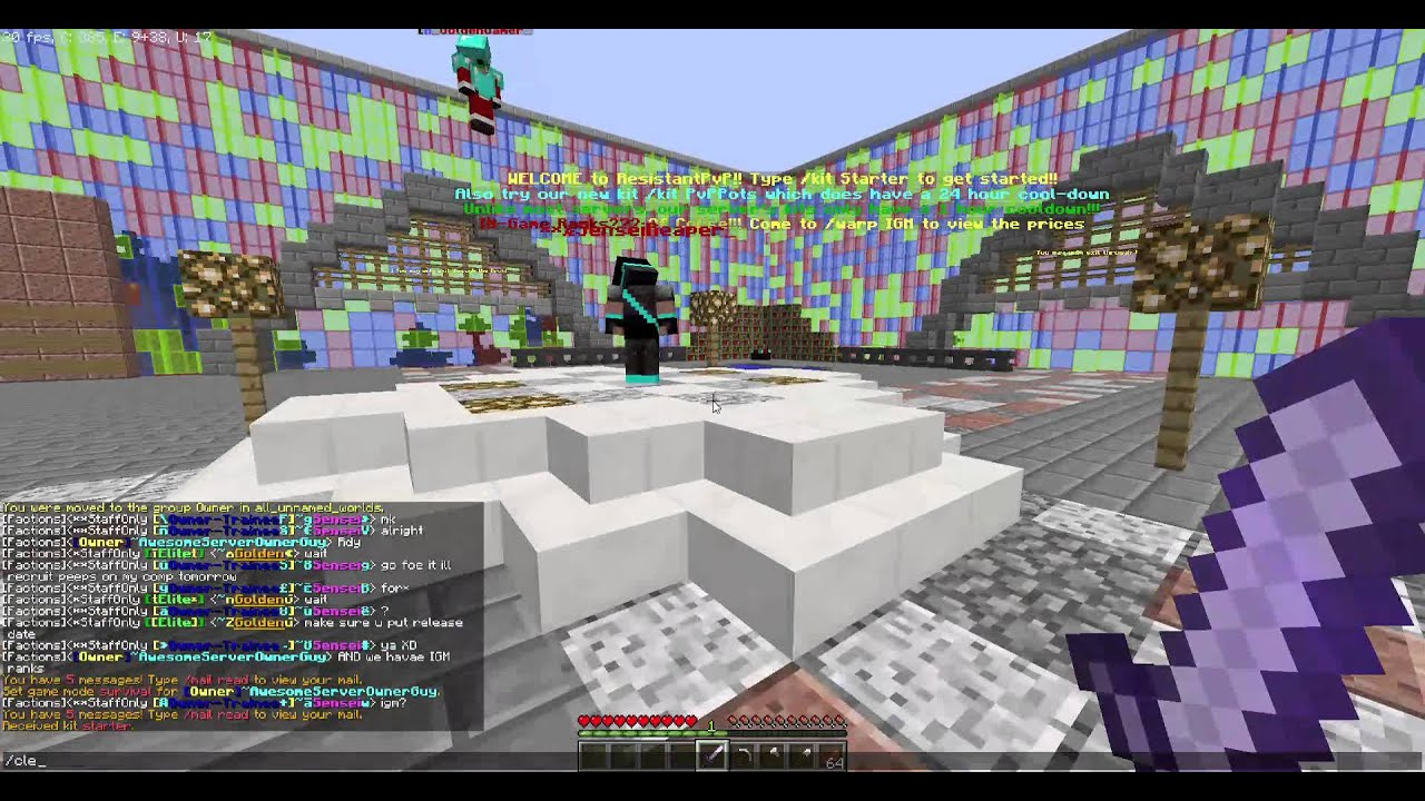My New 24/7 Minecraft Factions Server!! Free Ranks for the people ...