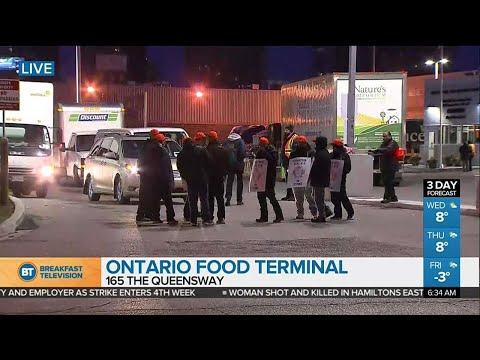 Strike underway at Ontario Food terminal in Etobicoke