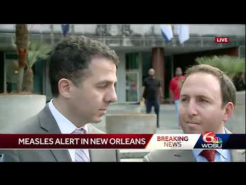 New Orleans health officials discuss measles case