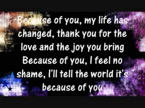 Because Of You Ver Lyrics By Keith Martin Chords Chordify