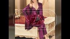 wedding silk and satin pyjama set nightwear sleep wear dresses