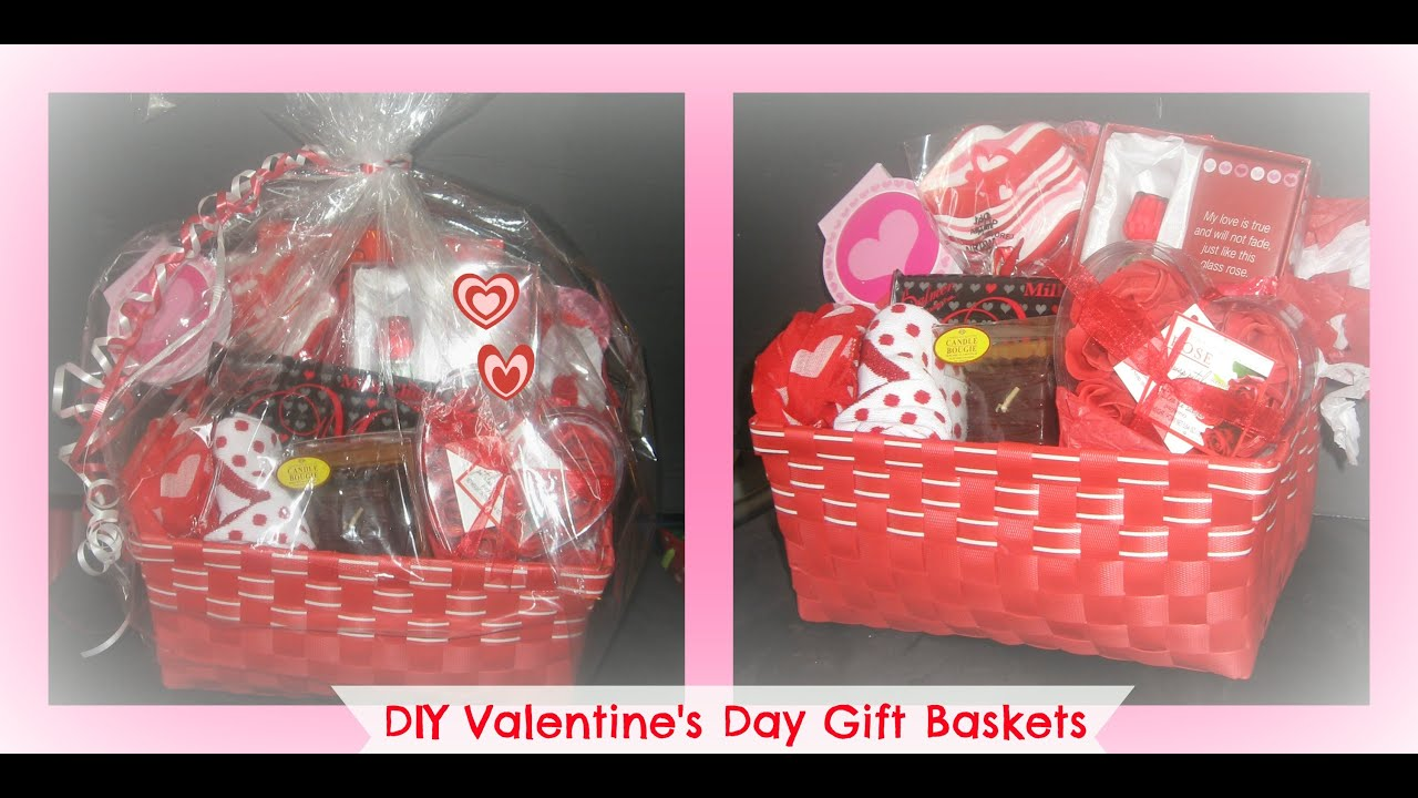 how to make a valentine's day gift basket from the dollar store ...