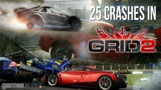 25 spectacular crashes in GRID 2 (exclusive footage from full game)