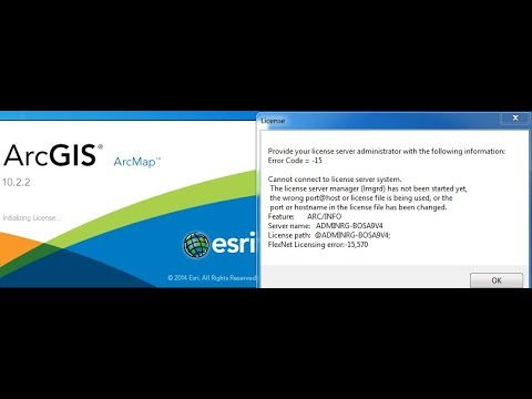 ArcGIS License Manager Not Running