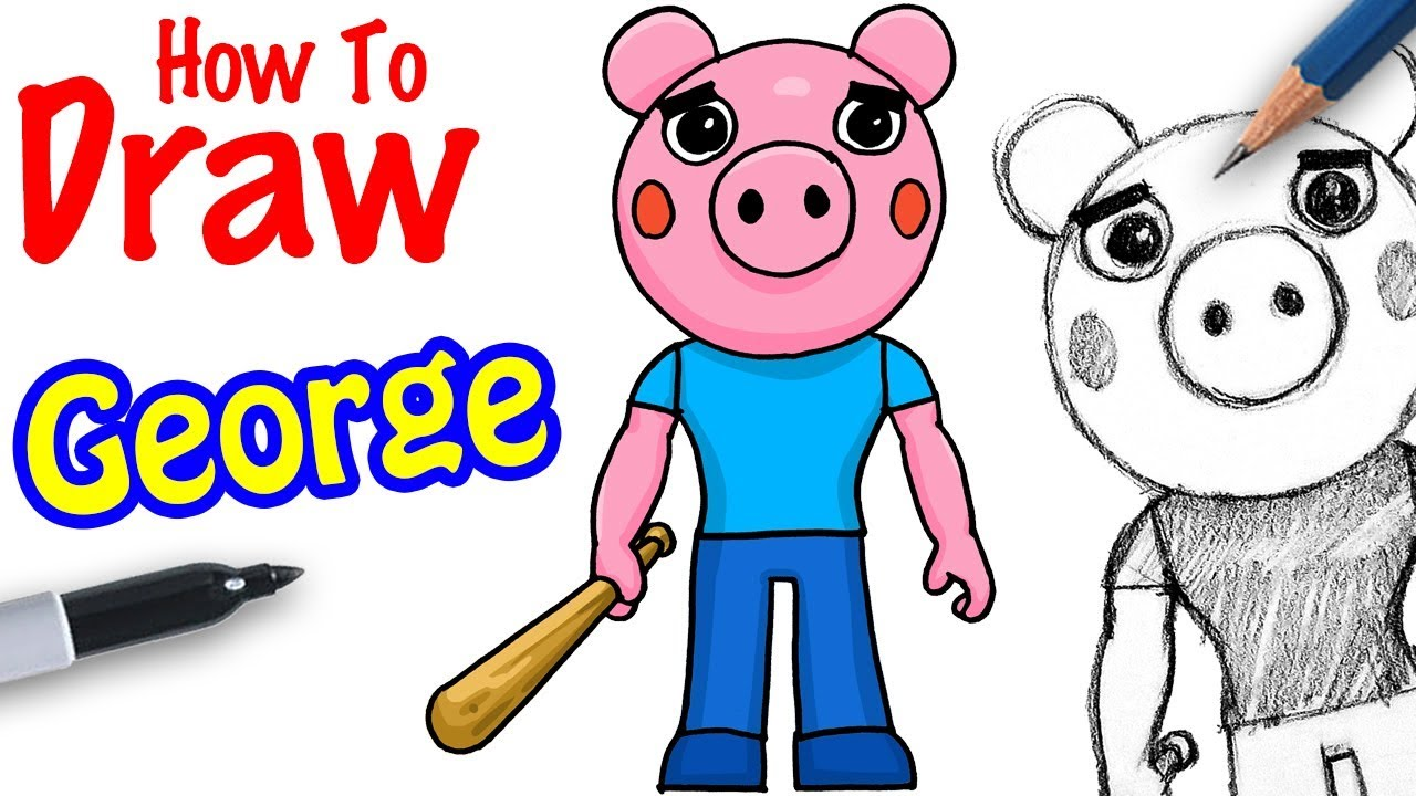 Piggy Roblox Drawings Cute How To Draw George Roblox Piggy Youtube