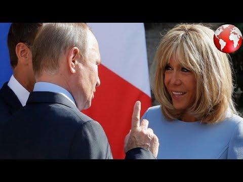 Путина высмеяли за комплимент жене Макрона